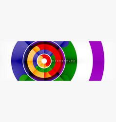 circular lines design background vector image