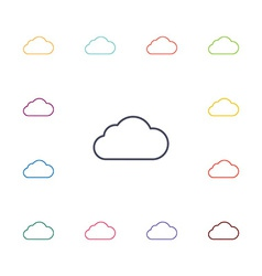 cloud flat icons set vector image vector image