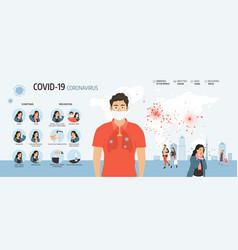 coronavirus 2019-ncov infographic vector image