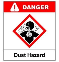 danger Dust Hazard sign vector image