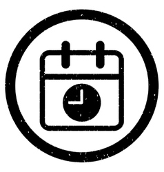 Date and time rounded grainy icon vector