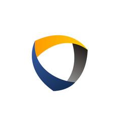 dynamic shield logo design template vector image