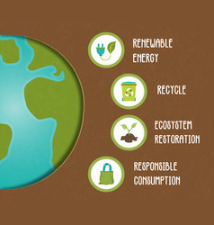 eco friendly green planet infographic template vector image