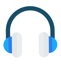 electronic device headphones for listening music vector image
