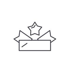 emblem line icon concept emblem linear vector image