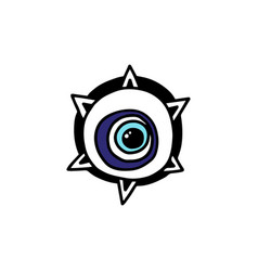 Evil eye amulet or magic symbol element cartoon vector