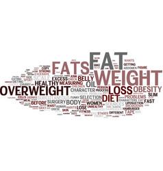 Fats word cloud concept vector