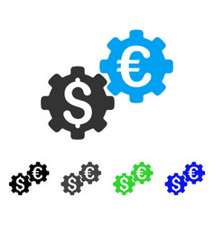 Financial mechanics flat icon vector