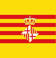 Flag of barcelona in spain vector
