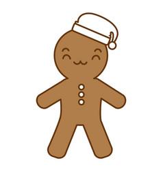 ginger bread kawaii character vector image