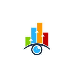 Graph eye logo icon design vector