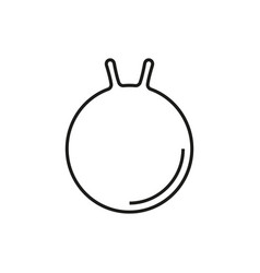 Gym ball icon on white background vector