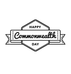 Happy Commonwealth day greeting emblem vector