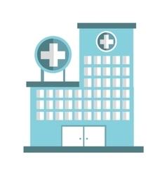Hospital building emergency icon vector