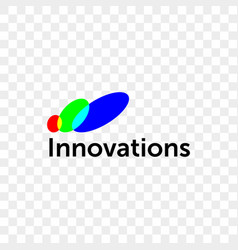 innovations company color circles icon vector image