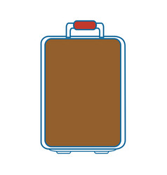 Isolated travel suitcase vector