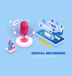Isometric digital recording and digital sound wave vector