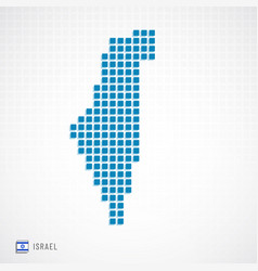 Israel map and flag icon vector