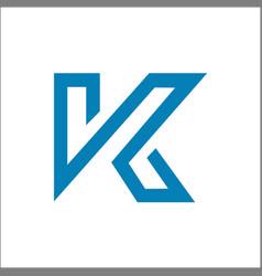 K logo initial letter logo design template vector