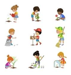 Kids Gardening Set vector image