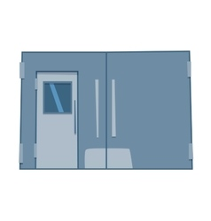 Lift door isolated vector
