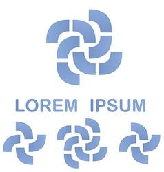 Light blue business logo design template set vector