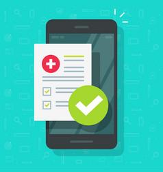 medical prescription online report or digital vector image