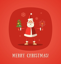 Merry Christmas red vector image