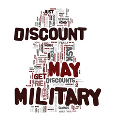 Military discount text background word cloud vector