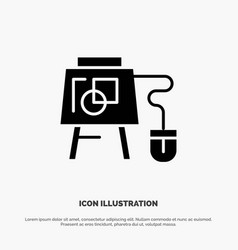 Mouse online board education solid black glyph vector