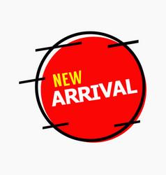 New arrival template design vector