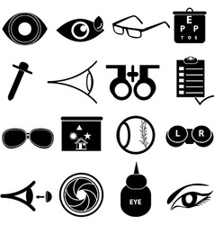 Ophthalmology icons set vector