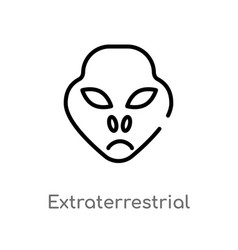 Outline extraterrestrial icon isolated black vector
