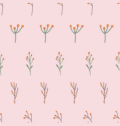 repeating feminine retro floral nature background vector image