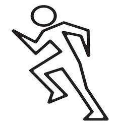 Running man1 vector image