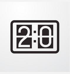 Scoreboard icon vector