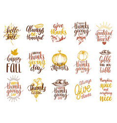 set of lettering and for vector image