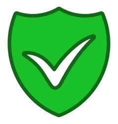 Shield ok toolbar icon vector