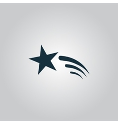 Shooting star icon vector image