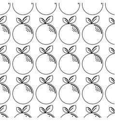 silhouette delicious orange healthy fruit vector image vector image