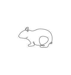 single continuous line drawing funny fat vector image
