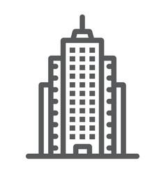 Skyscaper line icon office and architecture vector