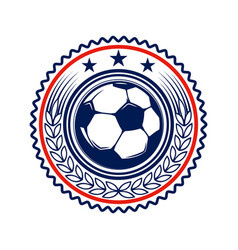 soccer football emblems design element for logo vector image