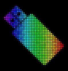 Spectral colored dot usb flash drive icon vector