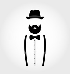 suit icon isolated on white background gentleman vector image