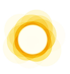 Summer icon sunny bright circle shape sun shine vector