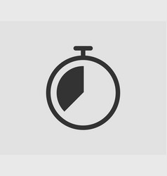 timer icon stop watch pictograph stopwatch vector image
