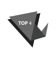 Top4 text in label black color vector