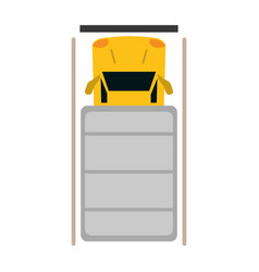 Truck top view parking lot vector