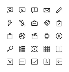 User Interface Colored Line Icons 6 vector image